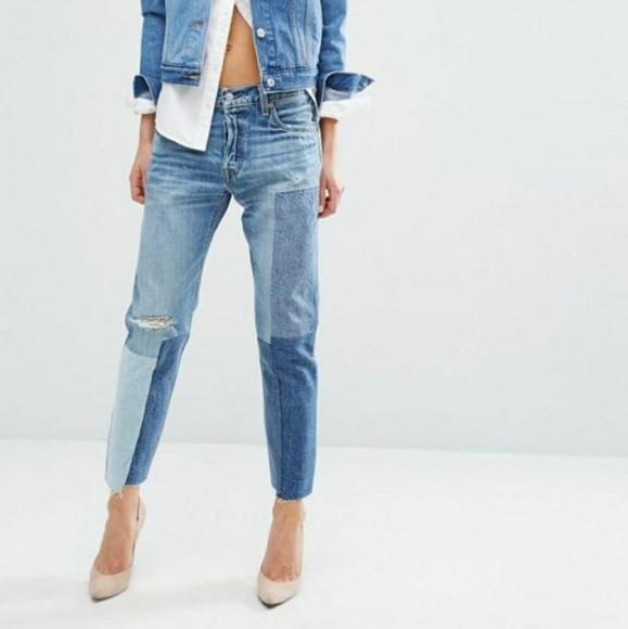 5f8f34b05fa NWT Levi s 501 Original Fit  Ragged Lands  Jeans